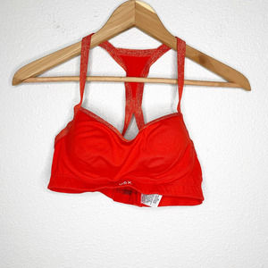 Victoria's Secret Sport Red Glitter Sports Bra 32C